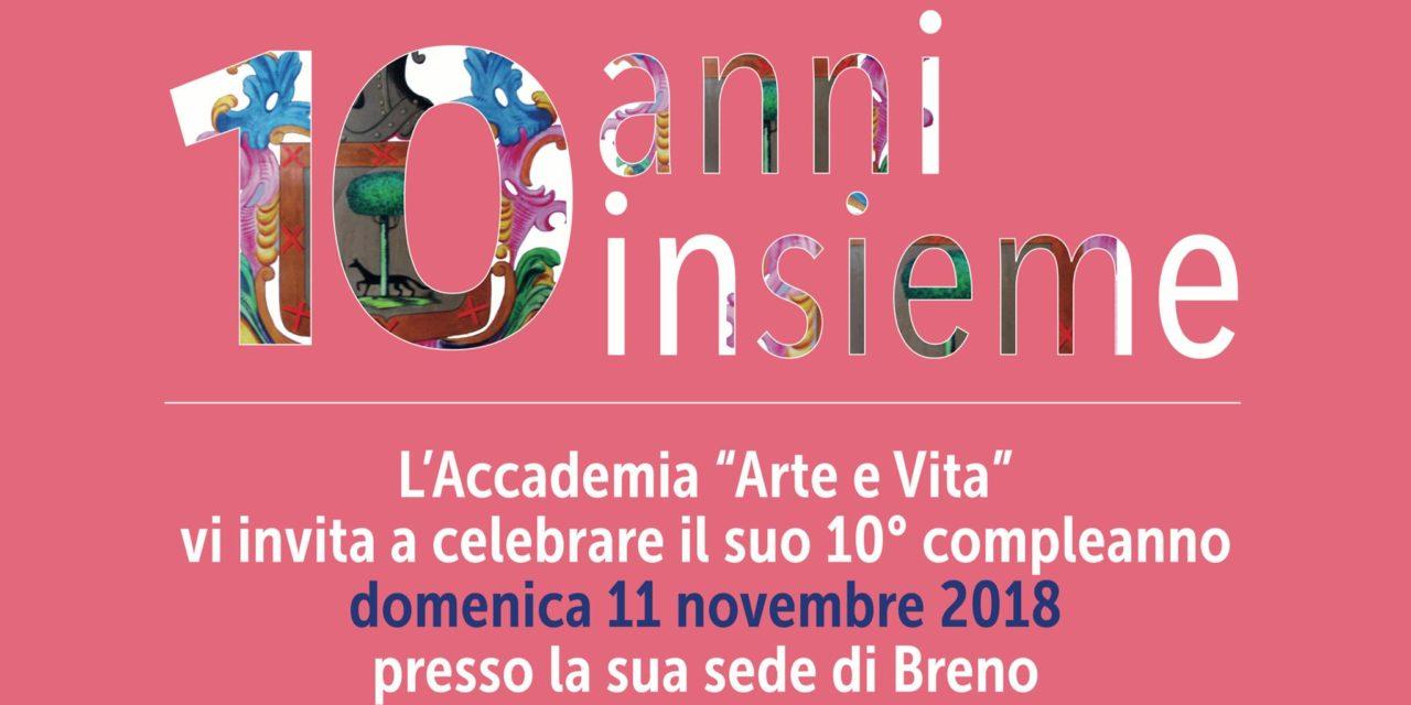 10 anni insieme: il compleanno dell'Accademia Arte e Vita